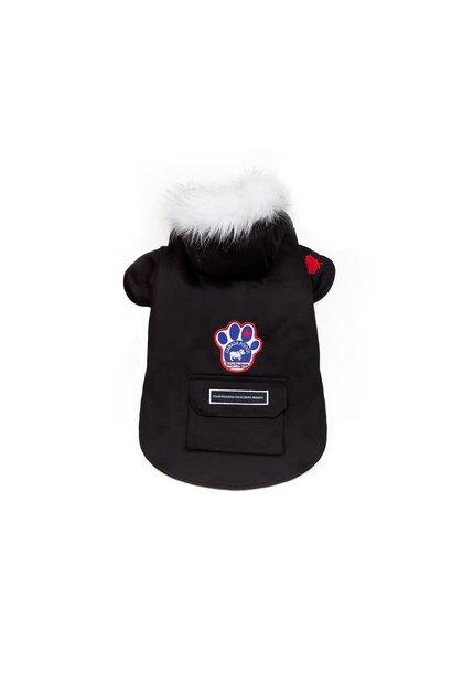 "Canada Pooch Winter Wilderness Jacket Black 18"""