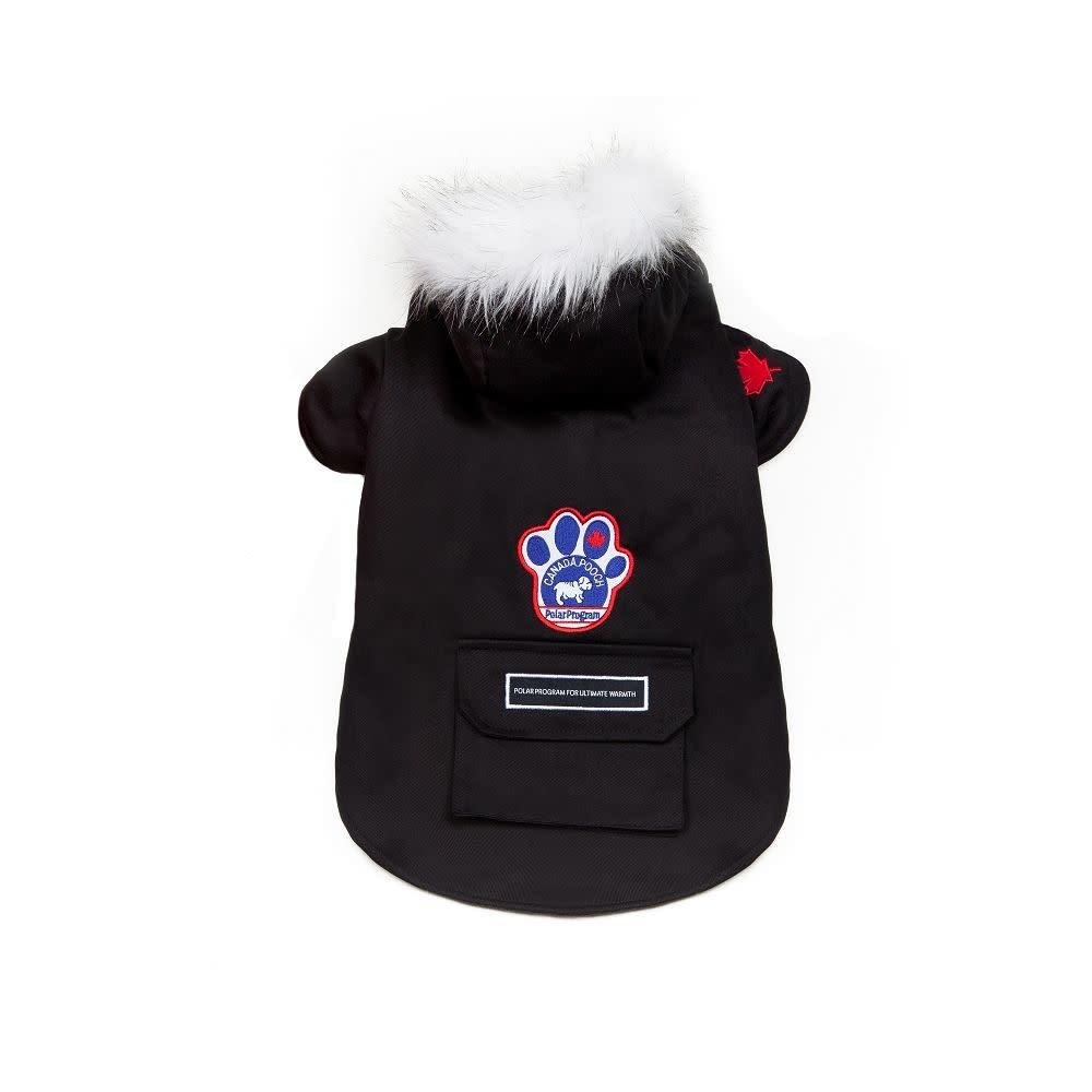"Canada Pooch Winter Wilderness Jacket Black 18""-1"