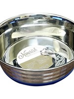 Nourish Stainless Steel Anti-Skid Bowl - Heavy - Stripes 11oz