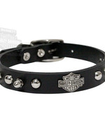 "Anipet Harley Davidson Spiked Collar Black 14"" x 5/8"""