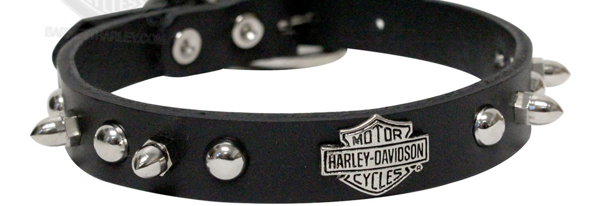 "Harley Davidson Spiked Collar Black 14"" x 5/8"""
