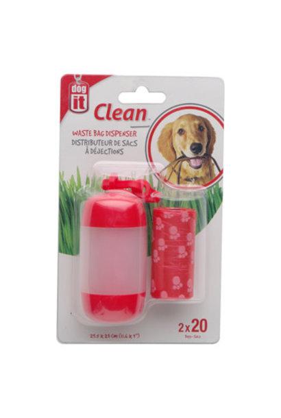 Clean-Waste Bag Dispenser-red