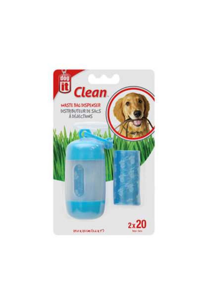 Clean-Waste Bag Dispenser-Blue