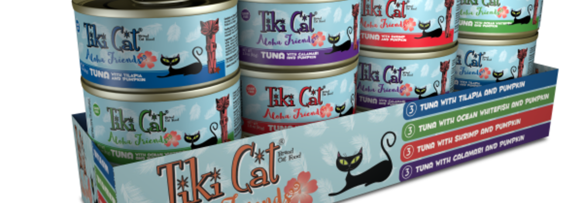 Tiki Cat Aloha Friends GF Variety Pack 12/3 oz