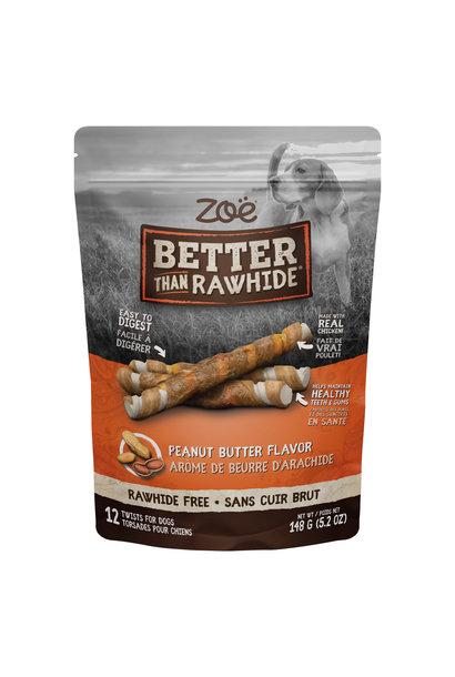 Zoe BTR Twists, Peanut Butter, 12pk