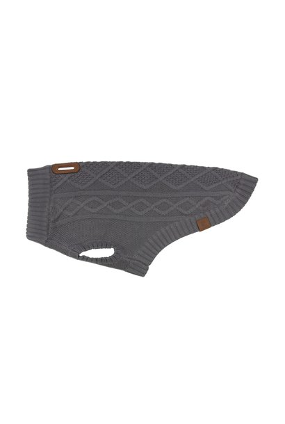 Cable Sweater XS Charcoal