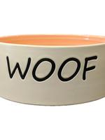 "Spot Woof Dog Dish Coral 7"""