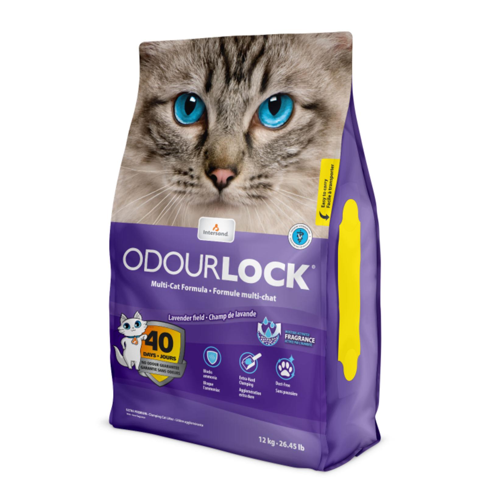 OdourLock Lavender Clumping Cat Litter 12kg