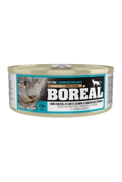Boreal Cobb Chicken, Atlantic Salmon, Duck Cat Food 80g