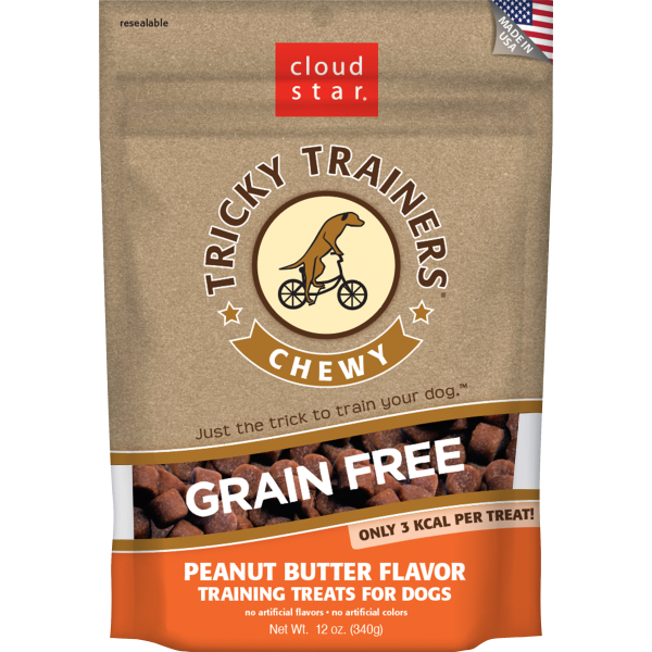 Cloud Star Tricky Trainers Chewy GF Peanut Butter 5oz-1