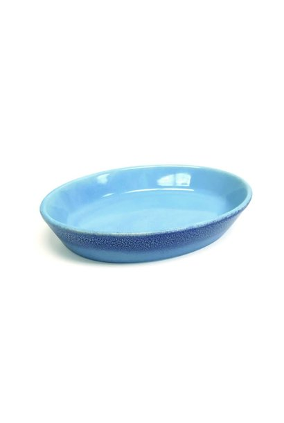 PIONEER Ceramic Bowl-Blue Reactive Oval (2)