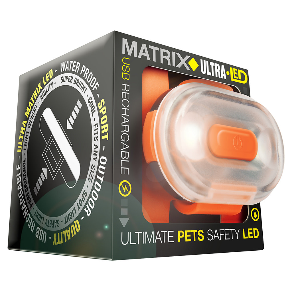 Matrix Ultra LED Safety Light Orange Cube Pack-1