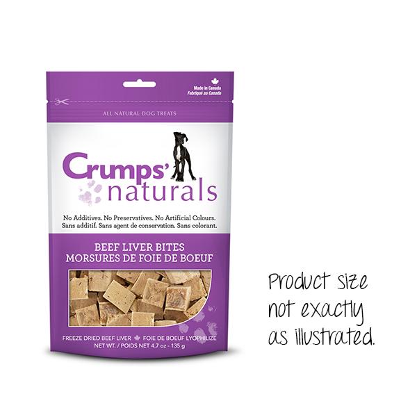 Crumps' Naturals Beef Liver Bites 2.3oz-1