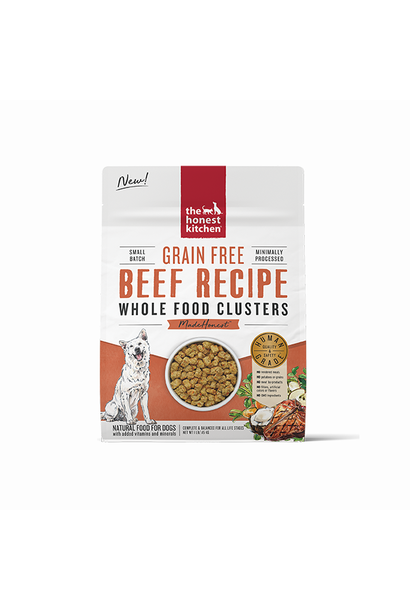 Grain Free Whole Food Clusters-Beef Trial 1lb