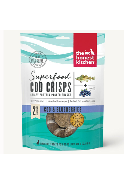 Superfood Cod Crisps w/ Blueberry