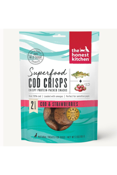 Superfood Cod Crisps w/ Stawberry