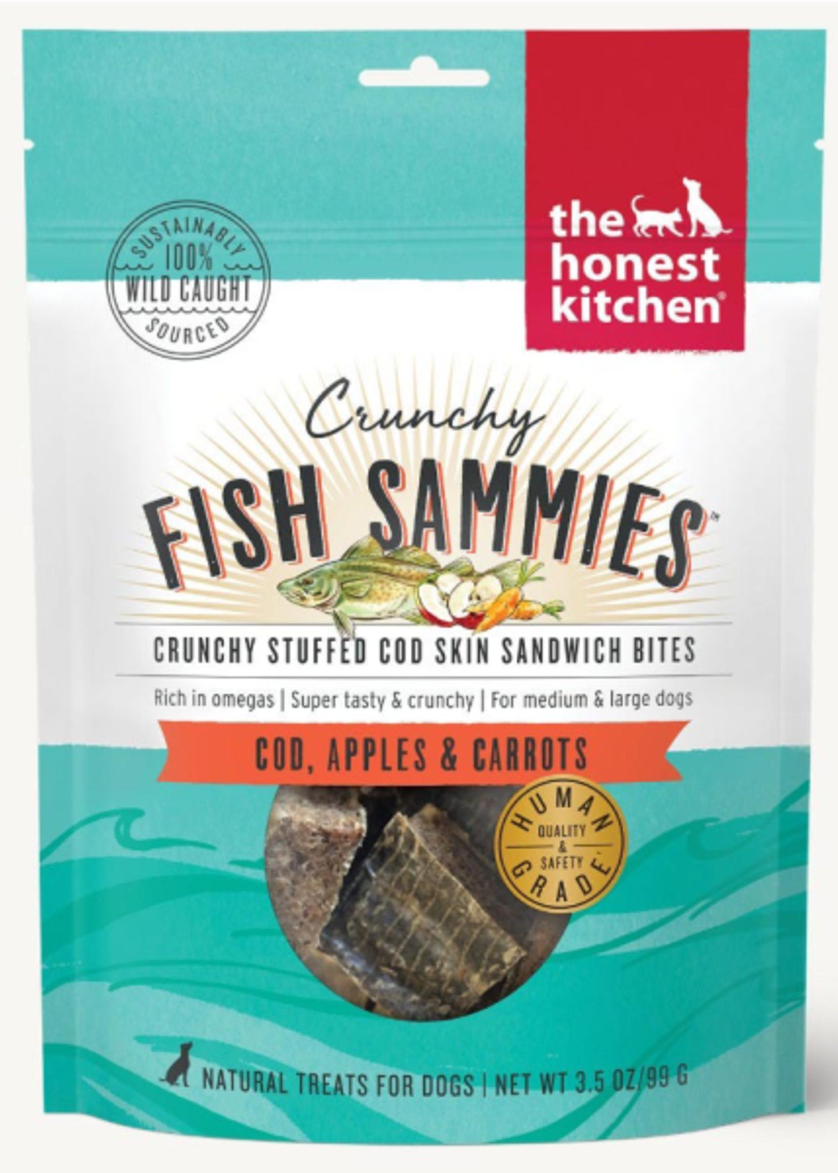 Honest Kitchen Crunchy Fish Sammies Cod w/Carrots & Apples 3.5oz
