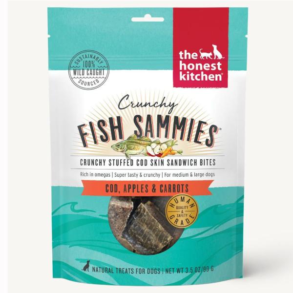 Crunchy Fish Sammies Cod w/Carrots & Apples 3.5oz-1