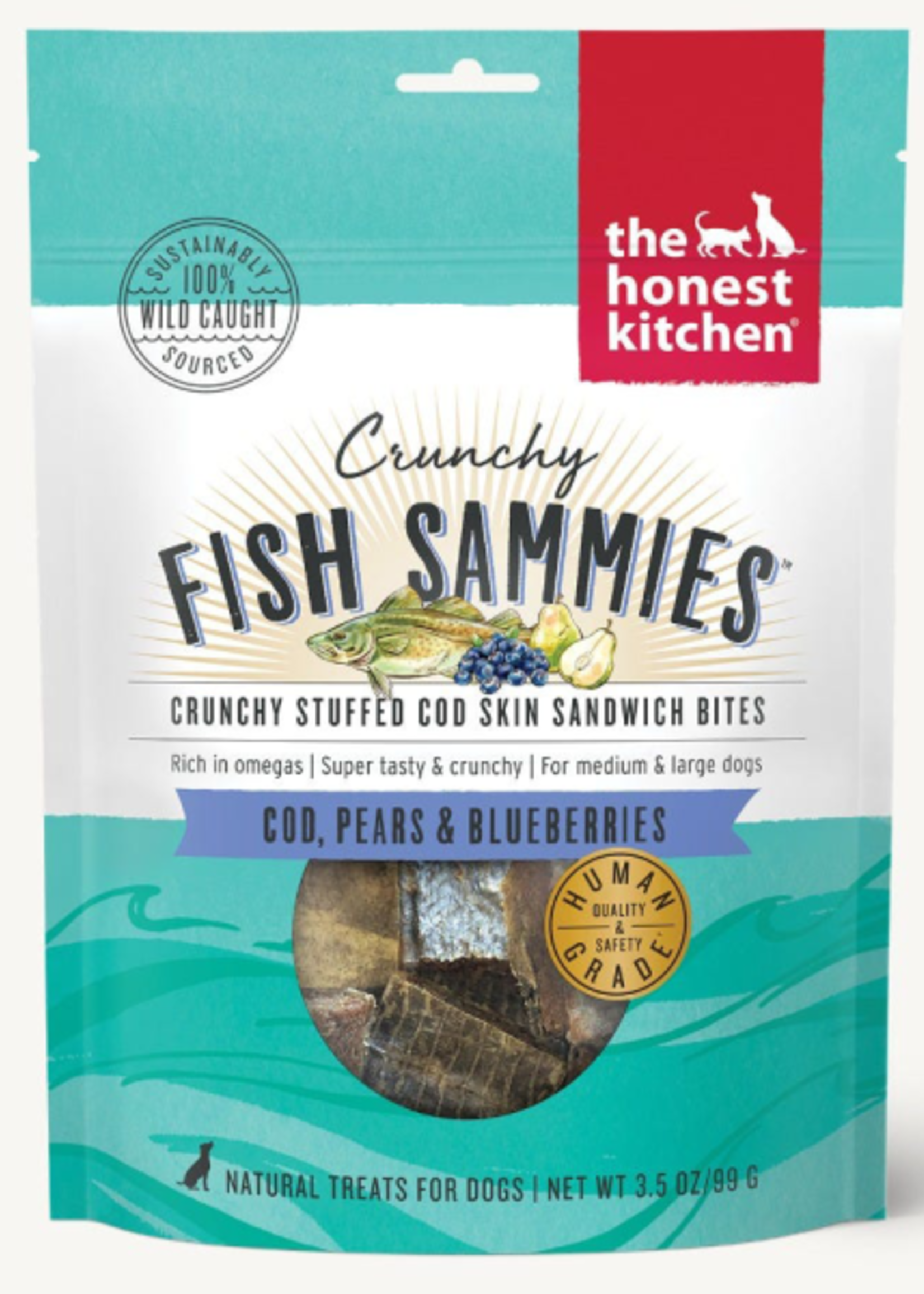 Honest Kitchen Crunchy Fish Sammies Cod w/Pears & Blueberries 3.5oz