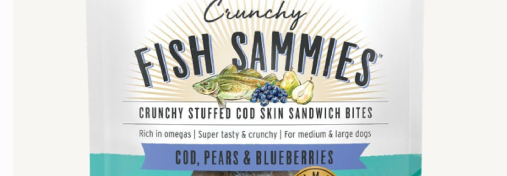 Crunchy Fish Sammies Cod w/Pears & Blueberries 3.5oz