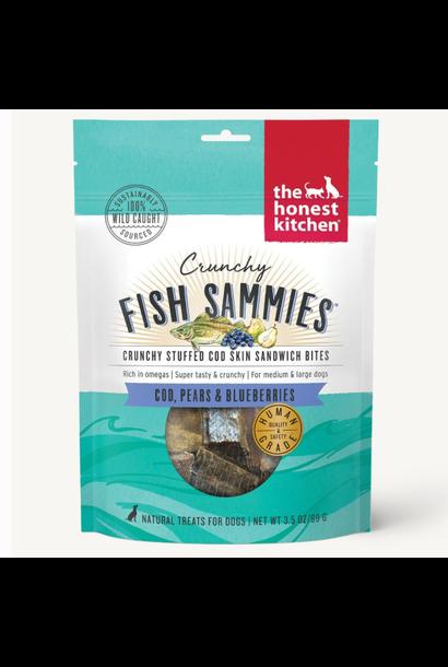 Crunchy Fish Sammies Cod w/Pears & Blueberries 3.5oz