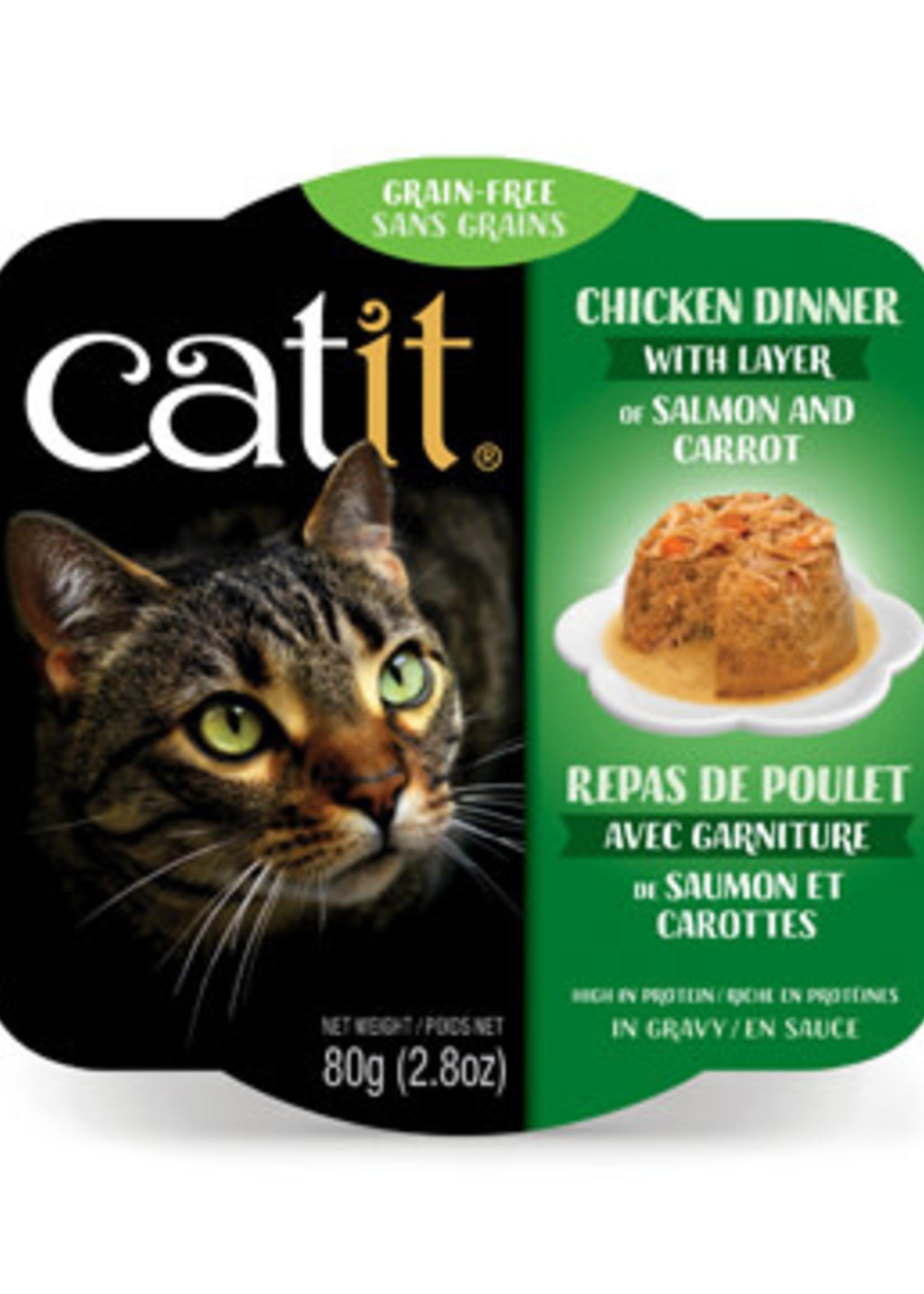 CatIt CT Chicken Dinner, Salmon & Carrot,80g
