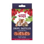 Living World LW Small Animal Drops, Raspberry, 75g