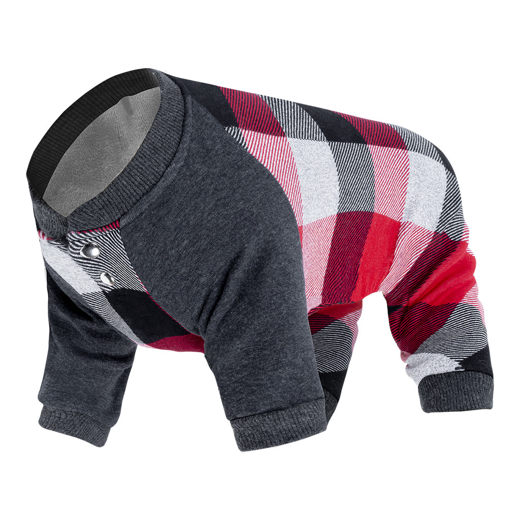 Frosty Fleece Sweatsuit Plaid 22-1