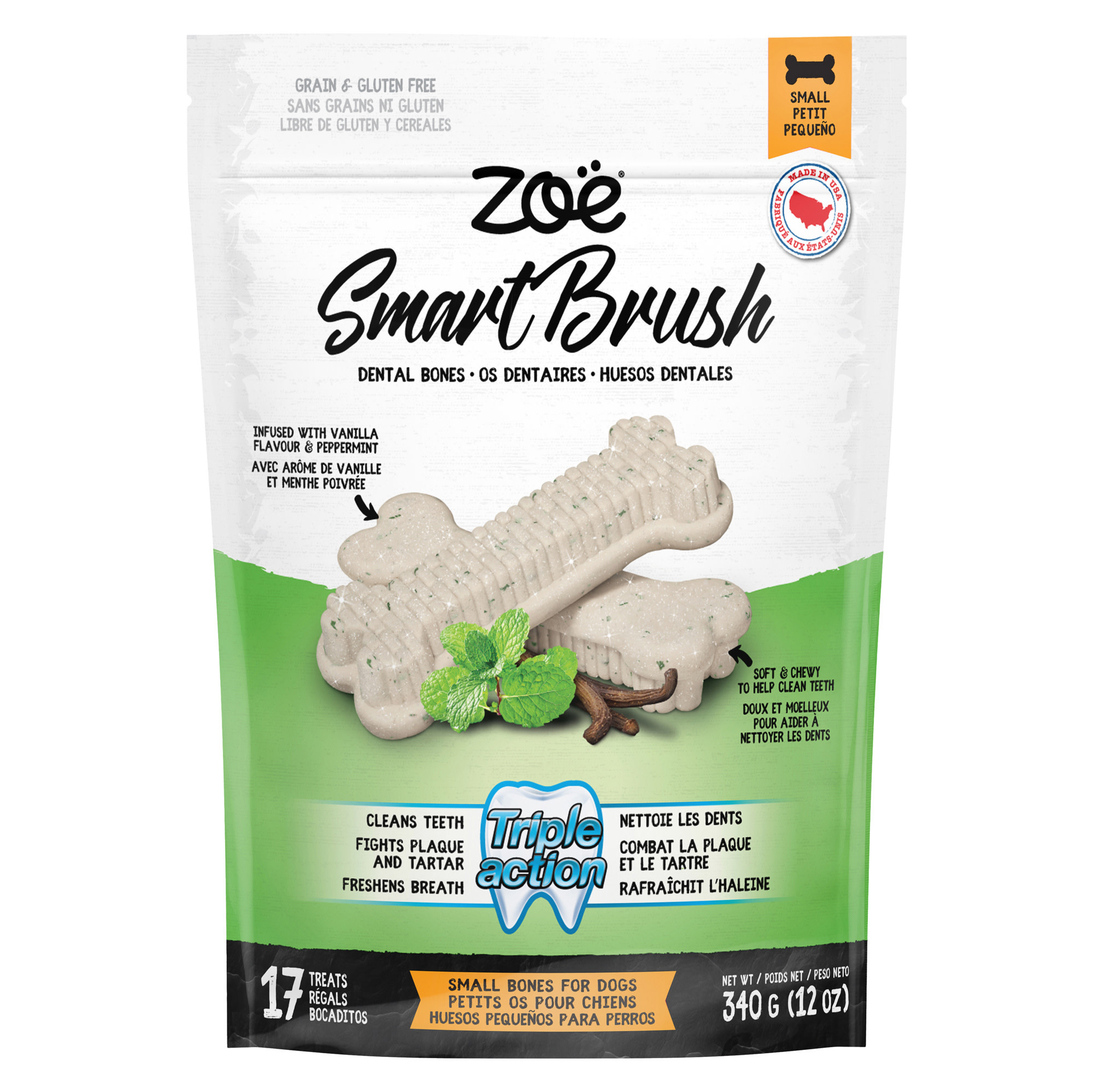 Smart Brush Bones for Dogs – 17 pack – 340 g (6.4 oz)-1