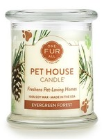 One Fur All Lge Candles Evergreen 8.5oz