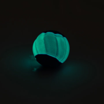 Duo Ball 6.3cm w/ squeaker & Glow - 2pk-1