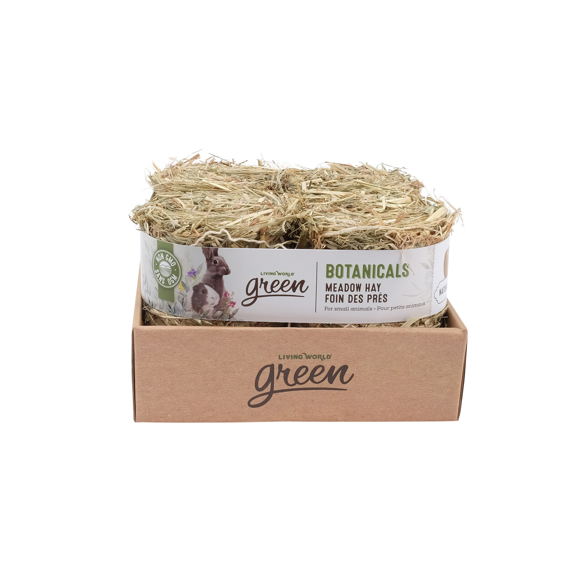 Meadow Hay Bale - Natural - 4 pack - 150 g each-1