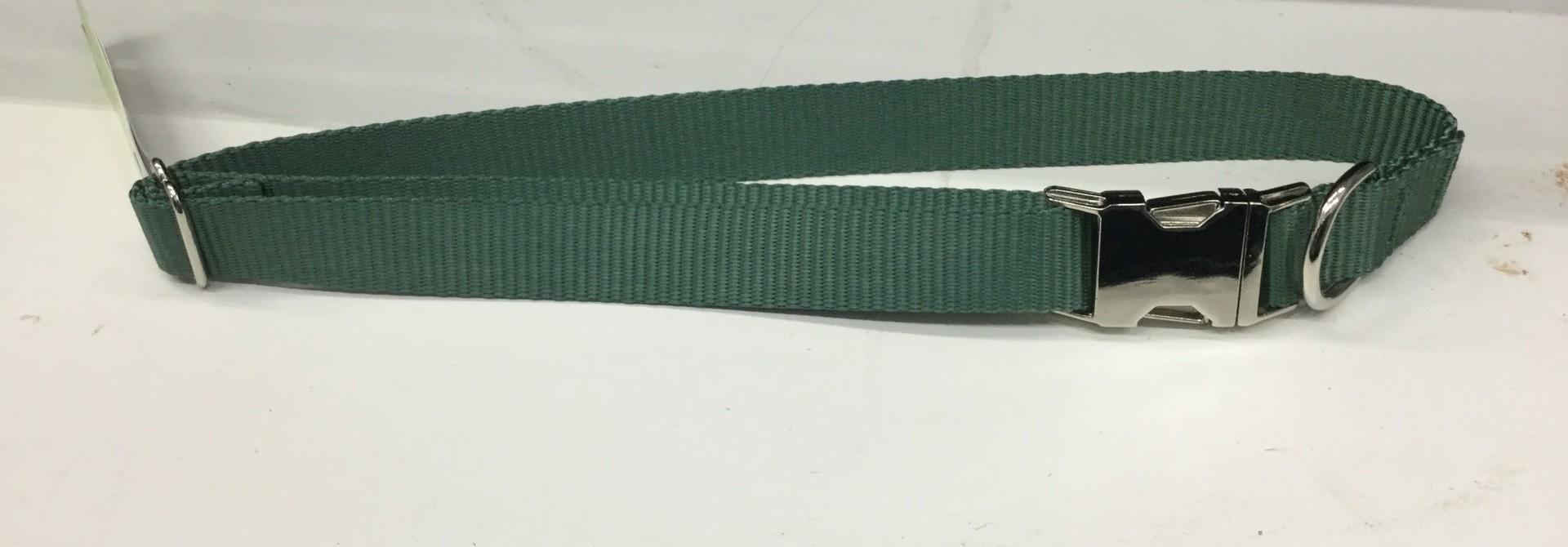 "Adjustable Martingale Collar - Black  Green 23"" - 36"""