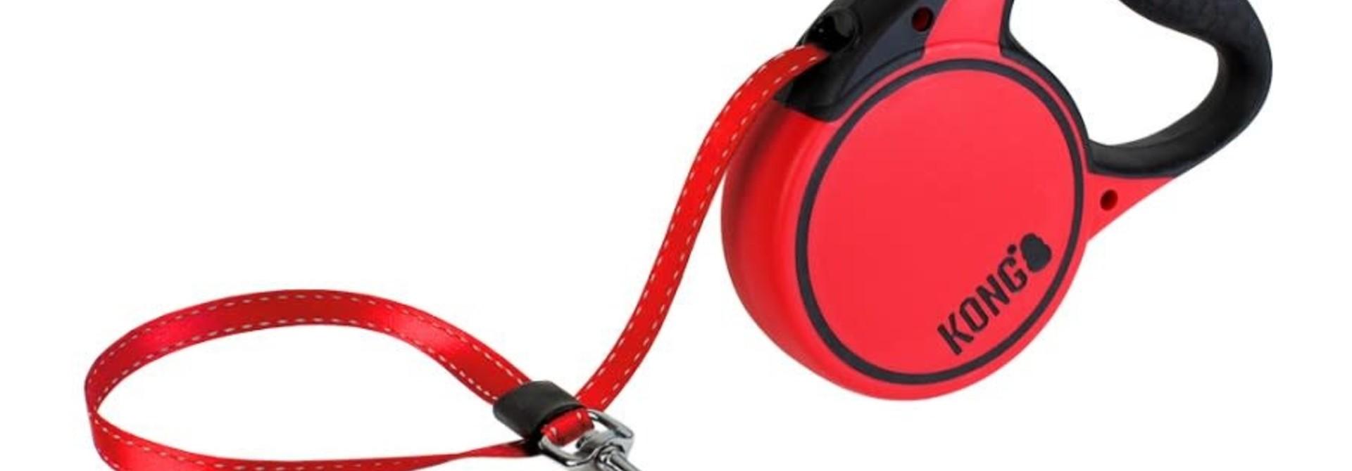 Terrain Retractable Leash- Small - Red