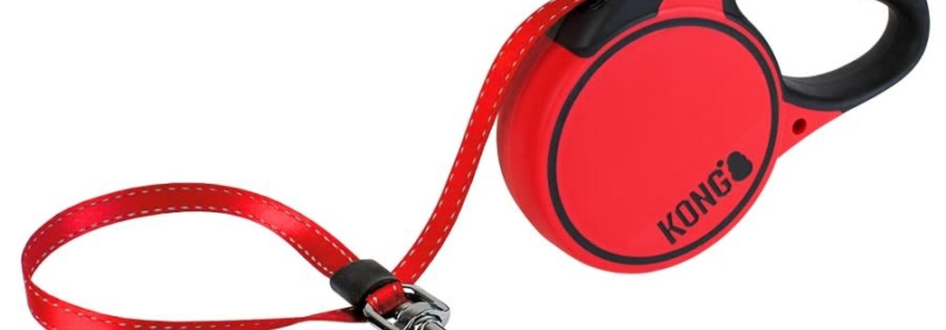 Terrain Retractable Leash- Large - Red