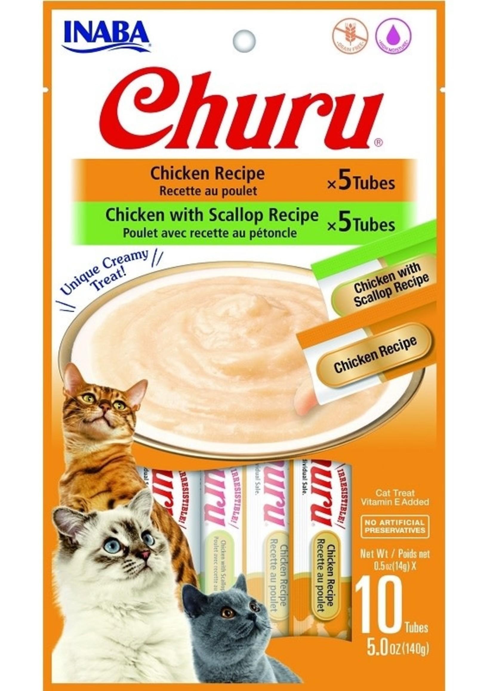 Inaba Churu Cat Puree Chicken Variety 10pk 0.5oz