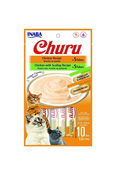 Churu Cat Puree Chicken Variety 10pk 0.5oz