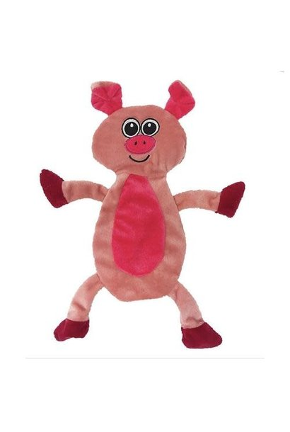 Pig Crinkle Flat Dog Toy