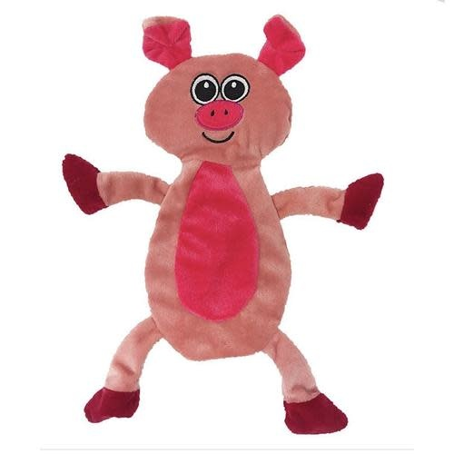 Pig Crinkle Flat Dog Toy-1