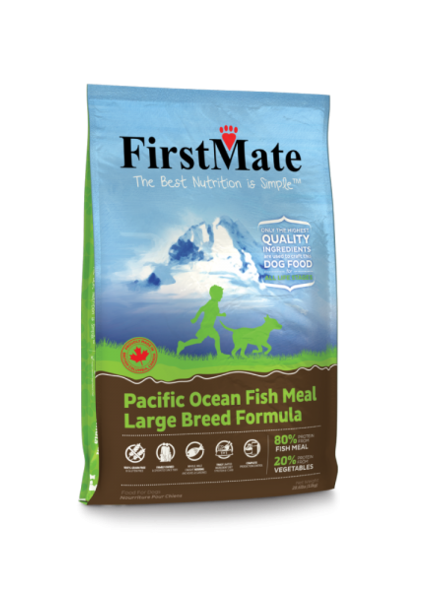 First Mate Pacific Ocean Fish With Blueberries Large Breed