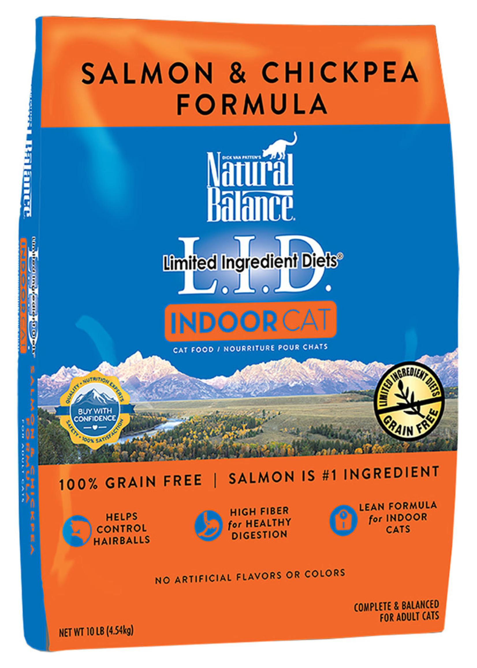Natural Balance Indoor Salmon & Chickpea 10LB / Cat