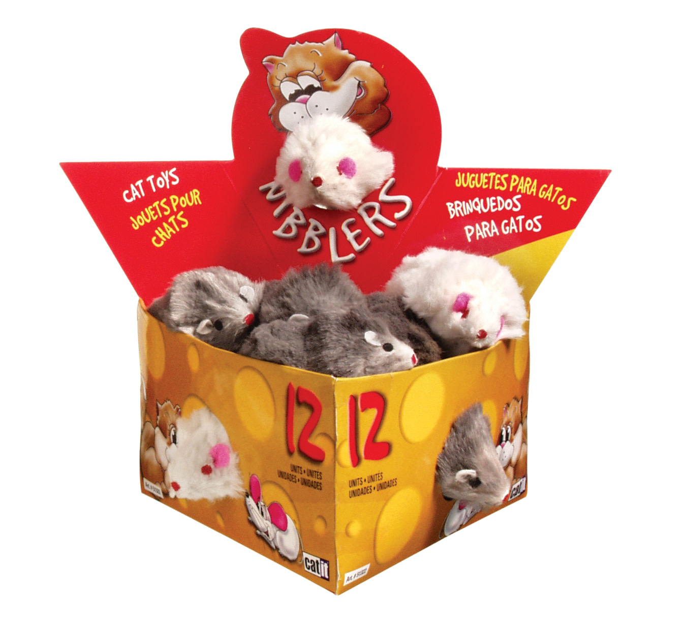 Deluxe Fur Mouse, Large - Single-1