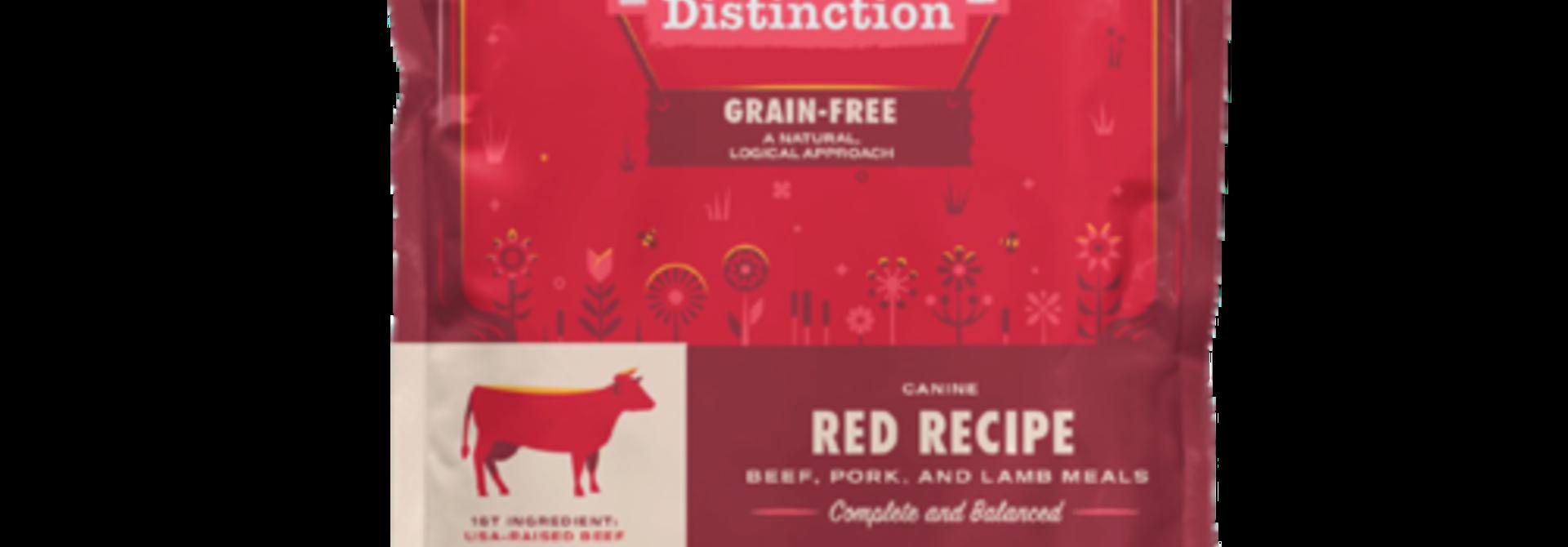 Distinction Dog Food - Red - 24lb