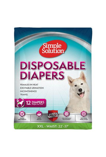 Disposable Female Diapers XXLarge 12PK
