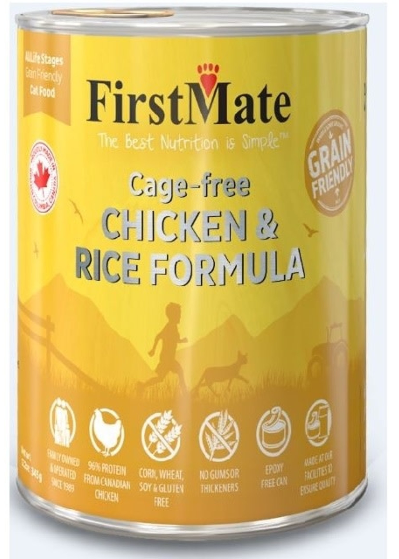First Mate Cage Free Chicken & Rice Cat 12.2oz