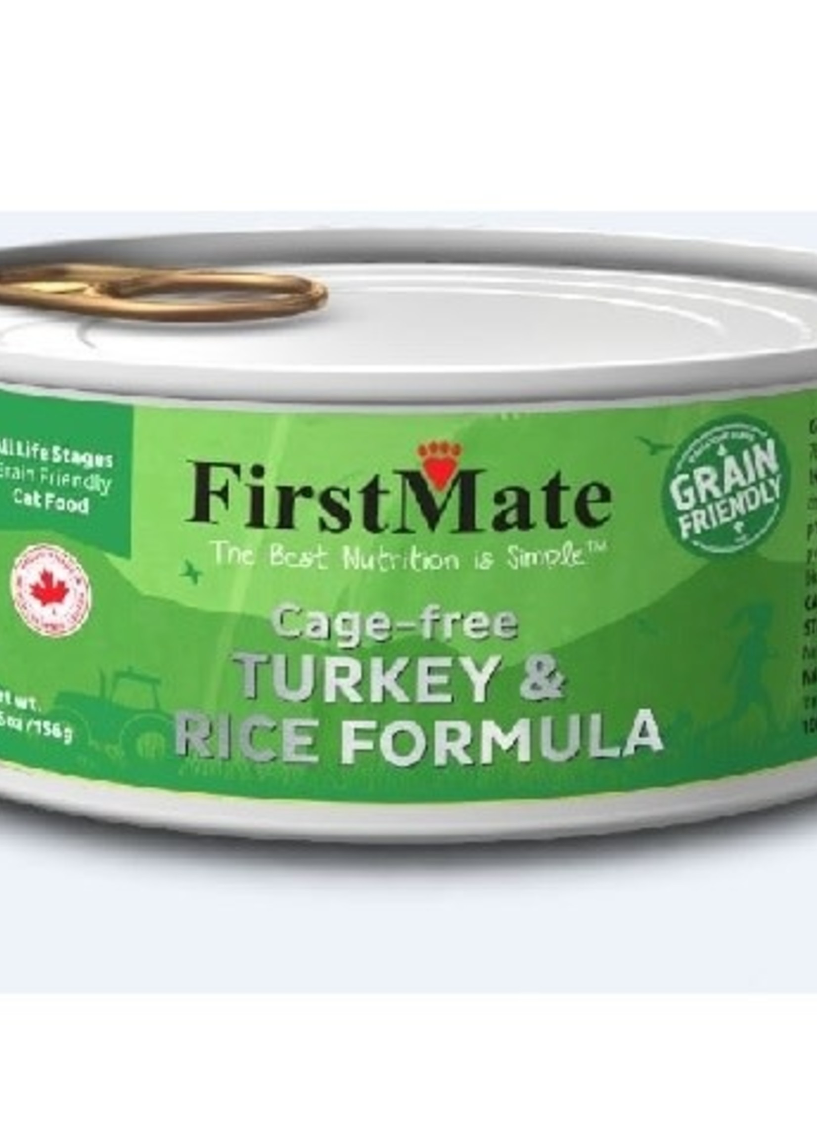 First Mate Cage Free Turkey & Rice Cat 5.5oz