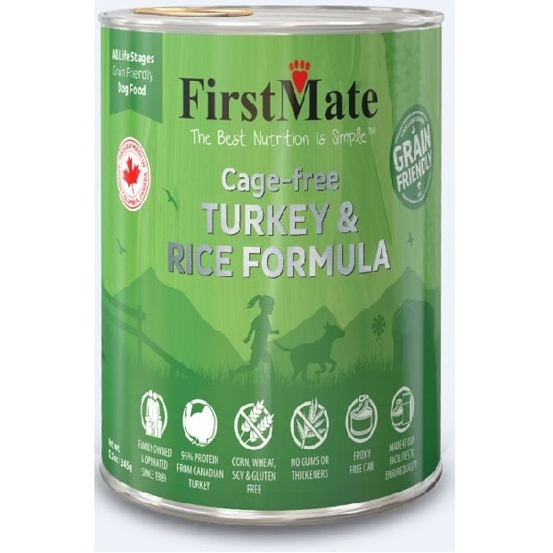Cage Free Turkey & Rice Dog 12.2oz-1