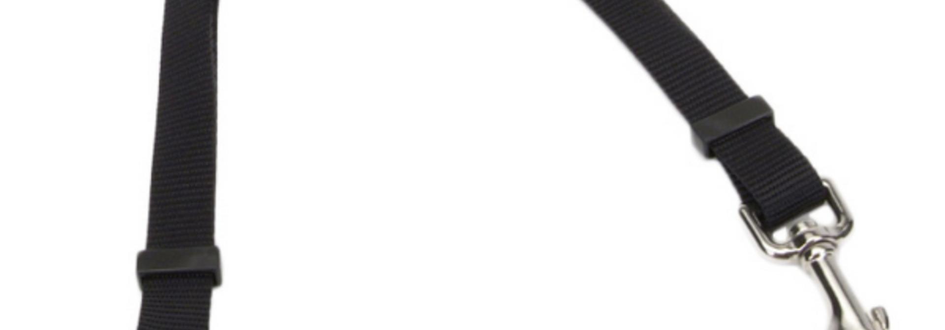 "2 Dog Adj Coupler 3/4x24-36"" Black"