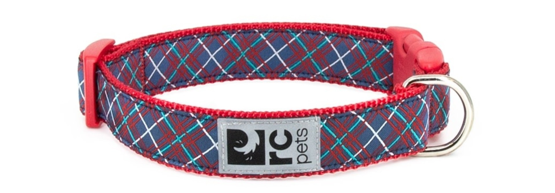 Clip Collar - Navy Tartan