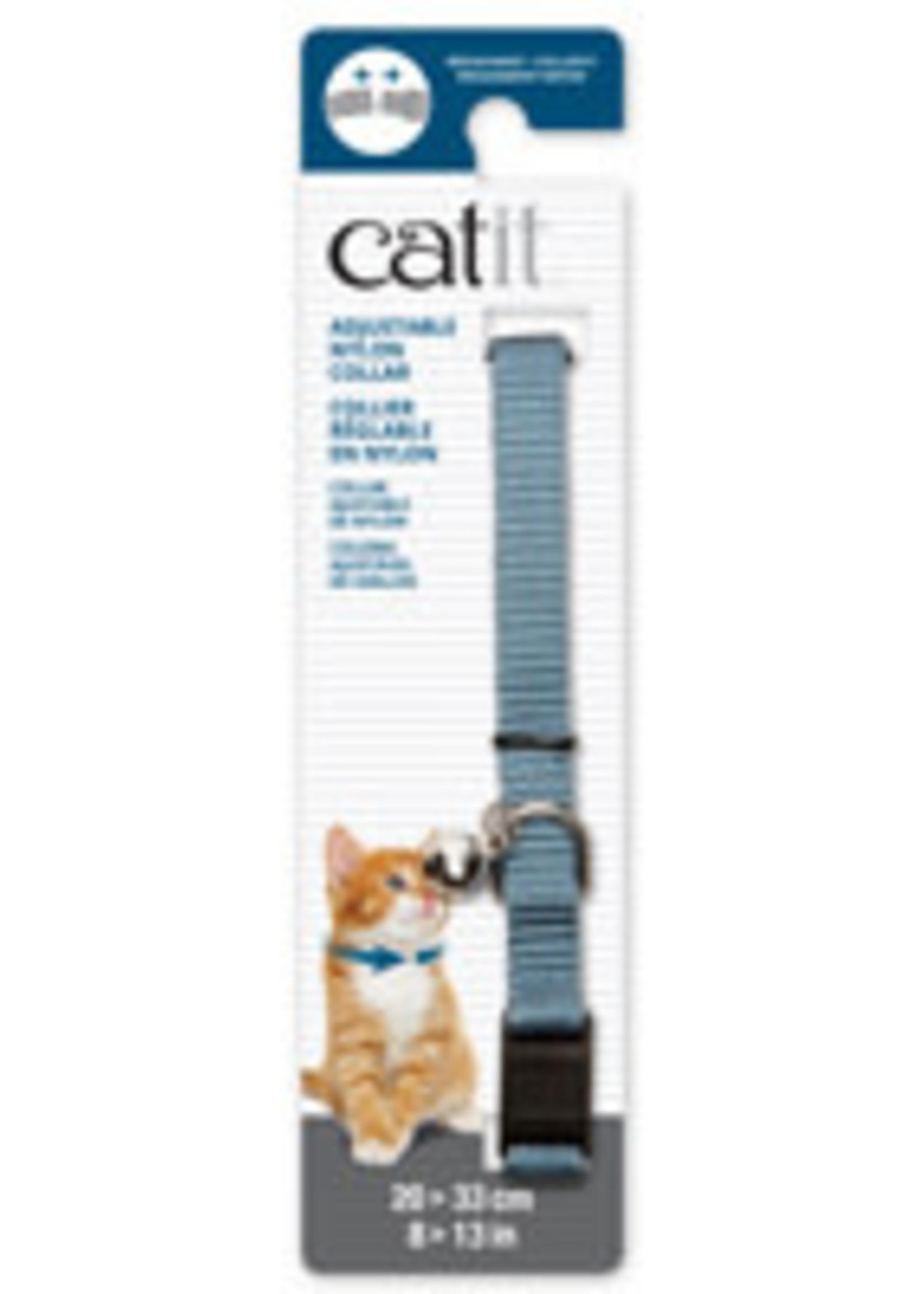 CatIt Breakaway Nylon Collar - Blue - 20-33 cm
